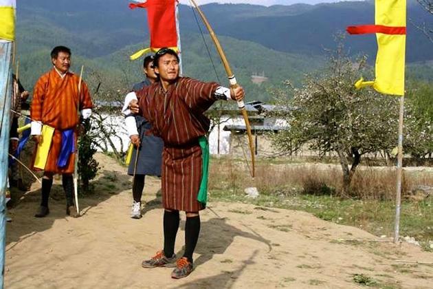 Bhutan Customs During the Archery Tournament