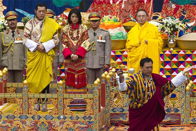 Bhutan Head Lama in the Royal Wedding