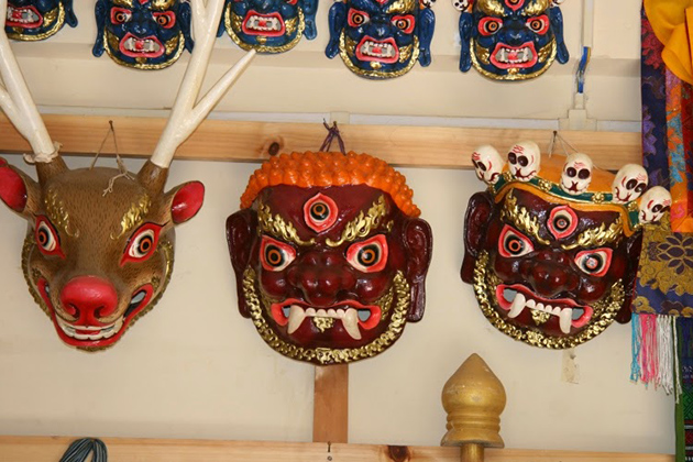 Bhutan Souvenirs - Colorful Masks