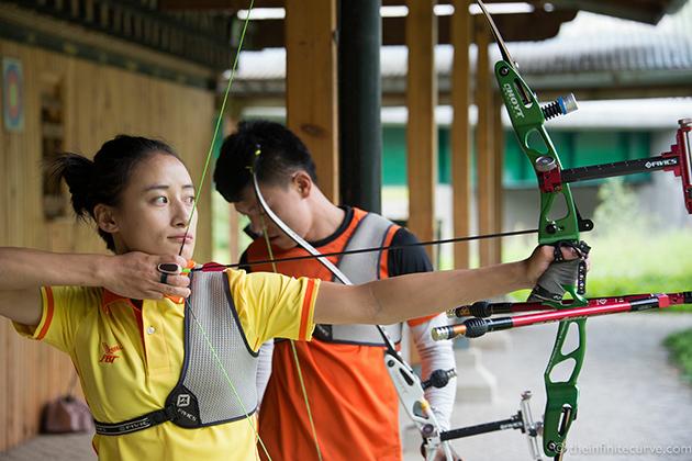 Bhutanese Women In The Archery Tournament