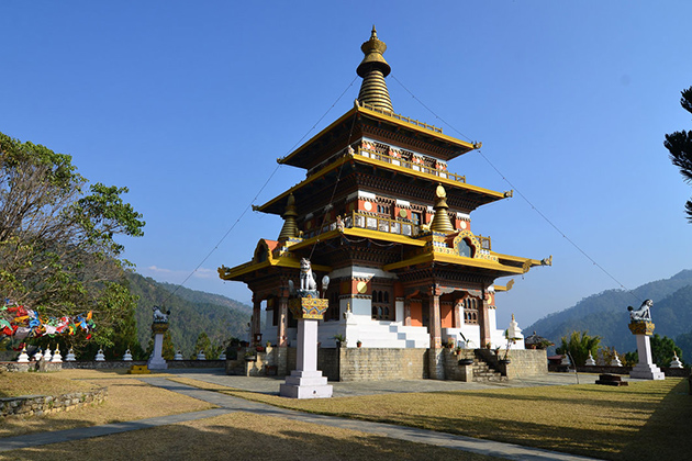 Khamsum Yulley Namgyal Stupa - family tour to bhutan