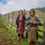Local ethnic women in Merak Bhutan
