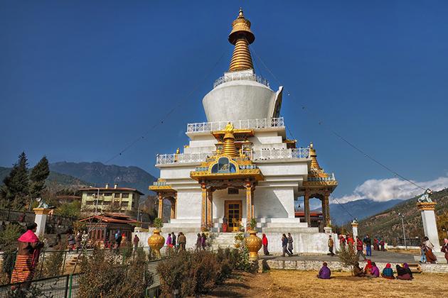 National Memorial Chorten - bhutan tour package for family
