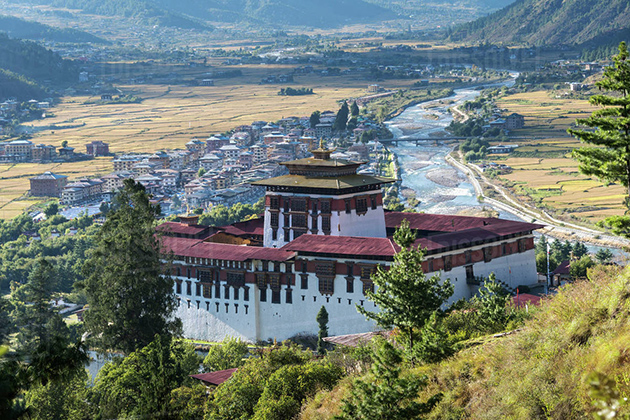 Paro Dzong - majestic bhutan vacation packages