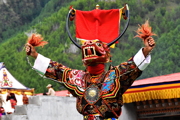 Thimphu festival - traditional festival in bhutan
