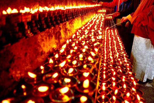 butter lamp - bhutan marriage ritual