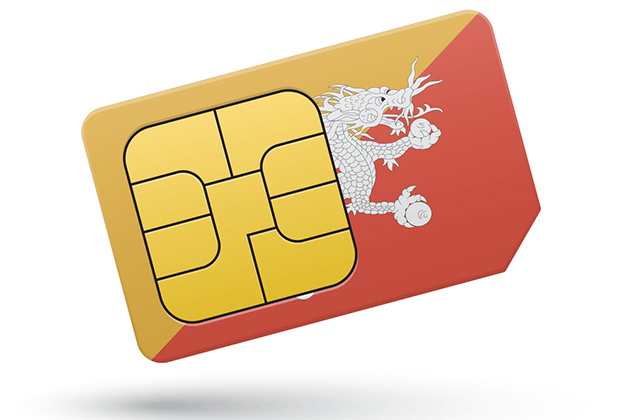 Bhutan Mobile Phone SIM Card B Mobile