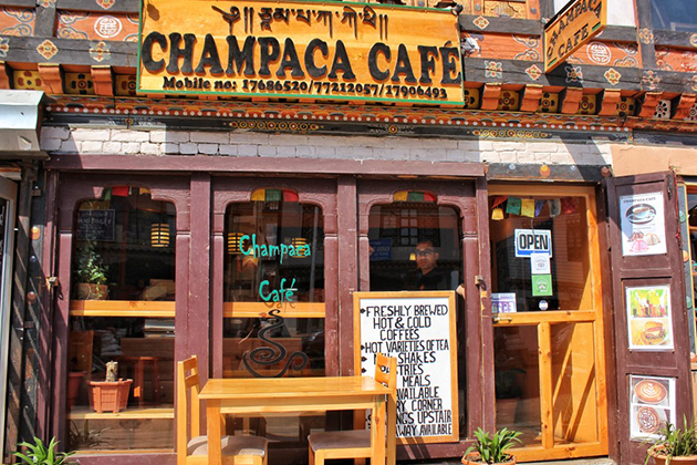 Champaca Cafe Shop Paro Bhutan