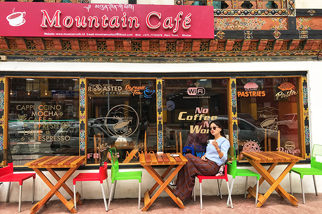 Mountain Coffee Shop Paro Bhutan
