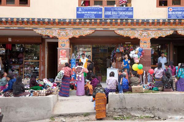 Norzin Lam Street - best bhutan souvenirs