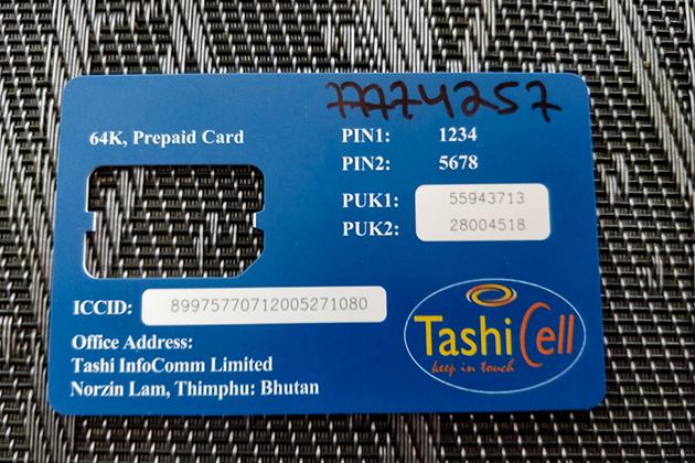TashiCell SIM Card Network Provider Bhutan