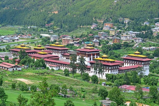 Tashichho Dzong -bhutan bike trip itinerary
