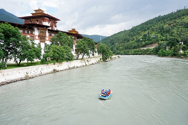 punakha rafting - bhutan bike tour packages