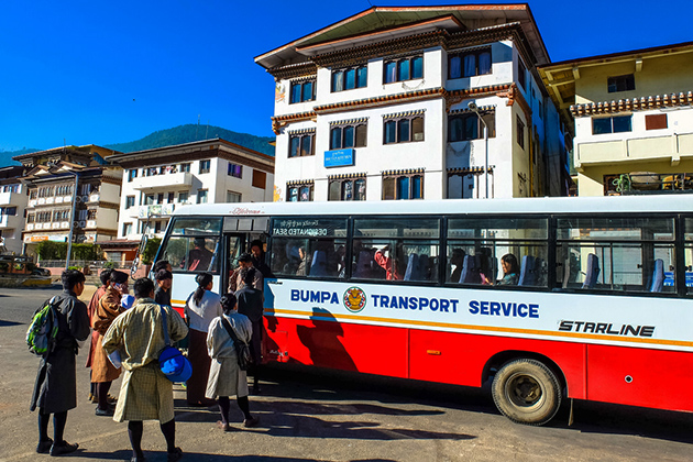 Bus Services in Western Bhutan