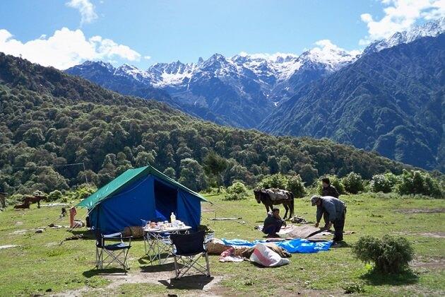 Camping bhutan