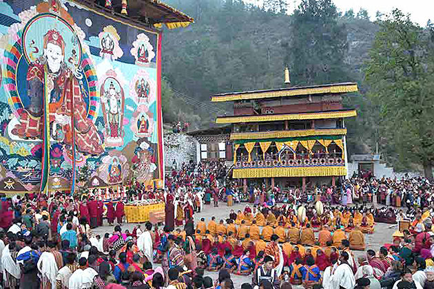 Thongdrel Ceremony - best paro festival tour