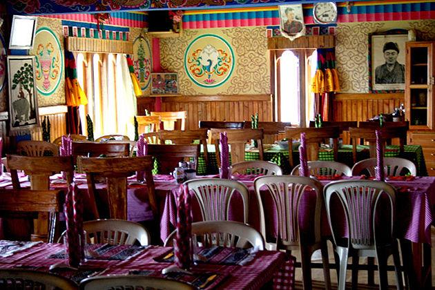 Punezhi restaurant in punakha bhutan