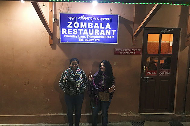 Zombala - restaurants in thimphu bhutan