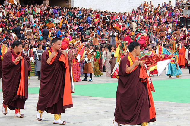 second day thimphu festival tour