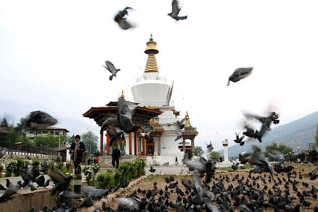 Memorial Chorten - bhutan tour itinerary