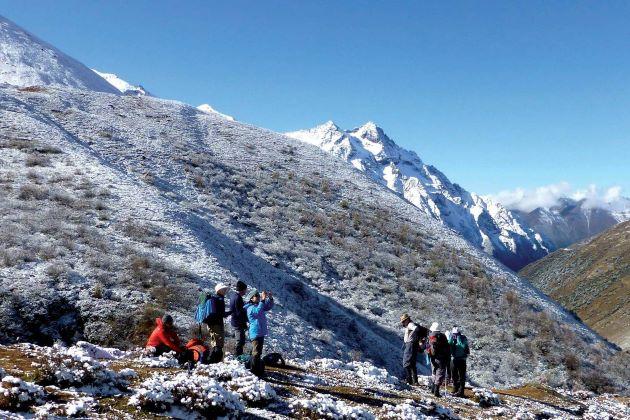 Mount Jhomolhari for trekking in bhutan