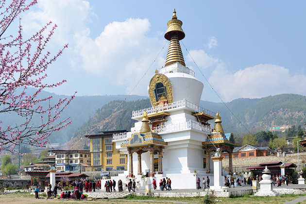 national chorten - festival tours in bhutan