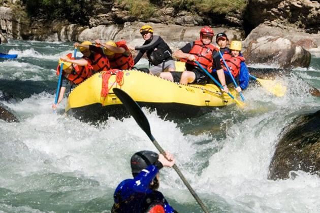 mo chhu - rafting in bhutan punakha