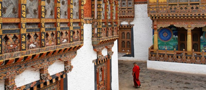 monk at monastery