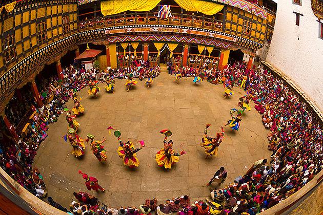 paro tsechu- festival tours in bhutan