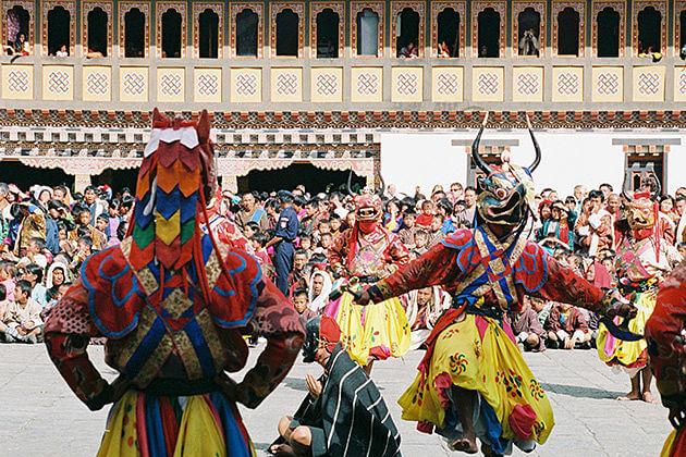 bhutan tshechu - bhutan tradition