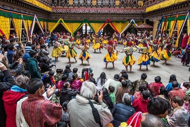 festival ground -paro bhutan places to visit