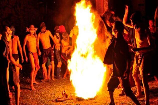 naked dance - jambay lhakhang festival bhutan