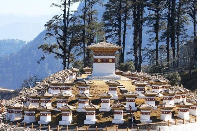 Druk Wangyal Chortens - bhutan family tours best place