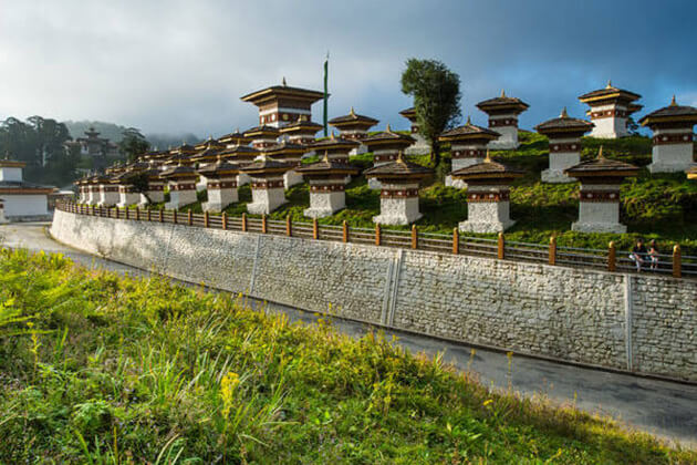 dochula pass - honeymoon in bhutan