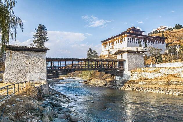 Paro Dzong monastery in Bhutan